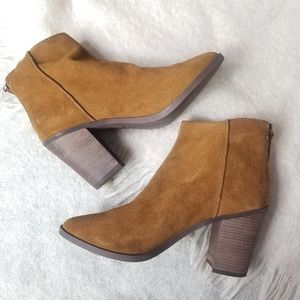 BP nordstrom leather ankle heeled booties